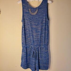 GAP blue slub knit romper EUC sz S